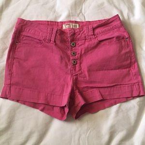 Hi rise button fly short shorts